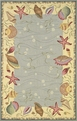 Colonial Ocean Surprise 1804 Blue / Ivory Area Rug by Kas