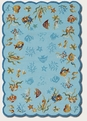 Couristan Coral Dive Aqua 2133/1021 Escape Rug