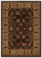 Couristan Royal Kashimar 0621/2596 Black Rug