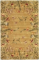 Emerald Tulip Garden 9080 Gold Rug by Kas