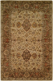 Empire EM-291 Beige Brown Area Rug by Kalaty