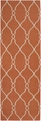 Fallon FAL-1002 Coral/Ivory  Hand Tufted  100% New Zealand Wool  Made in India