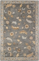 Floral FL-124 Steel Blue Rug by Rizzy