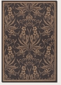 Couristan Cottage Black Cocoa 1516/0111 Recife Rug