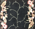 Garden GA46 Black Floral Carpet Stair Runner