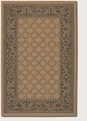 Garden Lattice Cocoa Black 1016/2000 Recife Outdoor Area Rug by Couristan