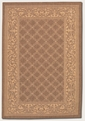 Garden Lattice Cocoa Nautral 1016/3000 Recife Outdoor Area Rug by Couristan