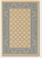 Garden Lattice Natural Blue 1016/5500 Recife Outdoor Area Rug by Couristan