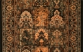 Gem Antique Nain 8502/3219a Black Chestnut Carpet Stair Runner