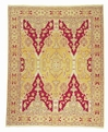 Grand Antiquities GA05 Gold Agra Hand Knotted Flat Weave 100% Wool Payless Rugs