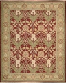 Grand Antiquities GA144 Red Art Nouveau Hand Knotted Flat Weave 100% Wool Payless Rugs