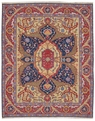 Grand Antiquities GA163 Navy Serapi Flat Weave Rug