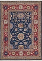 Grand Antiquities GA165 Navy Agra Flat Weave Rug