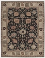 Grand Antiquities GA169 Black Oushak Hand Knotted Flat Weave 100% Wool Payless Rugs