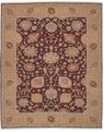 Grand Antiquities GA169 Burgundy Oushak Hand Knotted Flat Weave 100% Wool Payless Rugs