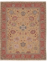 Grand Antiquities GA169 Gold Oushak Hand Knotted Flat Weave 100% Wool Payless Rugs