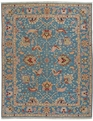 Grand Antiquities GA172 Blue Oushak Flat Weave Rug
