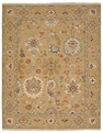 Grand Antiquities GA174 Gold Agra Hand Knotted Flat Weave 100% Wool Payless Rugs