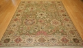 Grand Antiquities GA174 Olive Agra Hand Knotted Flat Weave 100% Wool Payless Rugs