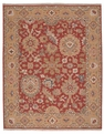 Grand Antiquities GA174 Rust Agra Hand Knotted Flat Weave 100% Wool Payless Rugs