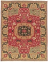 Grand Antiquities GA63 Red Agra Hand Knotted Flat Weave 100% Wool Payless Rugs
