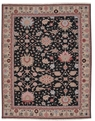 Grand Antiquities GA72 Black Sultanabad Hand Knotted Flat Weave 100% Wool Payless Rugs