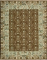 Grand Antiquities GA93 Brown Ukraine Hand Knotted Flat Weave 100% Wool Payless Rugs