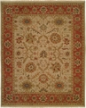 Hacienda HAC-04 Ivory Rust Flat Weave Hand Knotted 100% Wool Rugs On Sale