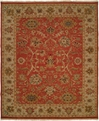 Hacienda HAC-05 Rose Ivory Flat Weave Hand Knotted 100% Wool Rugs On Sale