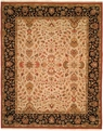 Hacienda HAC-11 Ivory Black Flat Weave Hand Knotted 100% Wool Rugs On Sale