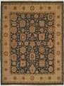 Hacienda HAC-12 Blue Ivory Flat Weave Hand Knotted 100% Wool Rugs On Sale Discontinued Limited stock