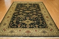 Hacienda HAC-17 Black Ivory Flat Weave Hand Knotted 100% Wool Rugs On Sale