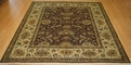 Hacienda HAC-23 Brown Ivory Flat Weave Hand Knotted 100% Wool Rugs On Sale
