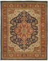 Hacienda HAC-25 Blue Red Flat Weave Hand Knotted 100% Wool Rugs On Sale