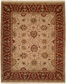 Hacienda HAC-32 Ivory Burgundy Flat Weave Hand Knotted 100% Wool Rugs On Sale