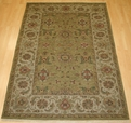 Hacienda HAC-34 Khaki Ivory Flat Weave Hand Knotted 100% Wool Rugs On Sale
