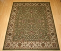 Hacienda HAC-36 Green Ivory Flat Weave Hand Knotted 100% Wool Rugs On Sale