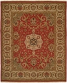 Hacienda HAC-39 Rust Ivory Flat Weave Hand Knotted 100% Wool Rugs On Sale