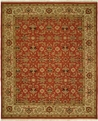 Hacienda HAC-42 Rust Ivory Flat Weave Hand Knotted 100% Wool Rugs On Sale