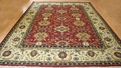Hacienda HAC-49 Red Ivory Flat Weave Hand Knotted 100% Wool Rugs On Sale