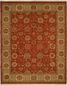 Hacienda HAC-50 Rust Ivory Flat Weave Hand Knotted 100% Wool Rugs On Sale