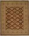 Hacienda HAC-53 Brown Green Flat Weave Hand Knotted 100% Wool Rugs On Sale