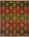 Hacienda HAC-57 Earthtones Flat Weave Hand Knotted 100% Wool Rugs On Sale