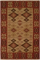 Hacienda HAC-58 Earthtones Flat Weave Hand Knotted 100% Wool Rugs On Sale