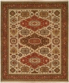 Hacienda HAC-65 Ivory Red Flat Weave Hand Knotted 100% Wool Rugs On Sale