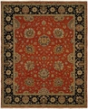 Hacienda HAC-68 Rust Black Flat Weave Hand Knotted 100% Wool Rugs On Sale