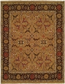 Hacienda HAC-70 Gold Brown Flat Weave Hand Knotted 100% Wool Rugs On Sale