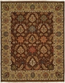 Hacienda HAC-72 Brown Camel Flat Weave Hand Knotted 100% Wool Rugs On Sale