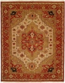 Hacienda HAC-73 Ivory Red Flat Weave Hand Knotted 100% Wool Rugs On Sale