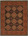 Hacienda HAC-74 Black Red Flat Weave Hand Knotted 100% Wool Rugs On Sale